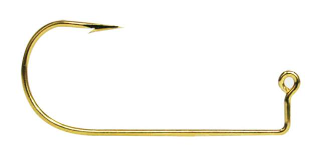 VMC 9147 90 Degree Aberdeen Jig Hook #2 - Gold (25 Pack